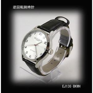 腕時計 逆回転 メンズ 人気 ブランド 激安【EJ138-WHBK】|lvx200807