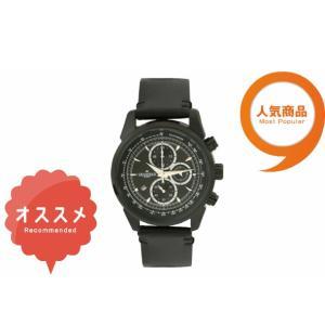 ≪安心の日本製≫クロノグラフ 腕時計 最高級イタリアンレザーベルト 紳士用GRANDEUR PLUS(グランドール プラス) 腕時計 黒文字盤(黒ベルト) [grp001b1]|lvx200807