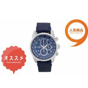 ≪安心の日本製≫クロノグラフ 腕時計 最高級イタリアンレザーベルト 紳士用GRANDEUR PLUS(グランドール プラス) 腕時計 青文字盤(青ベルト) [grp001w2]|lvx200807