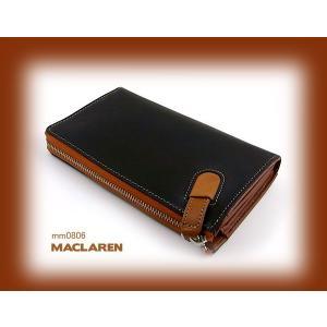 長財布(財布) ラウンドファスナー メンズ 革 MACLAREN マクラーレン 人気 ブランド mm0806 黒|lvx200807