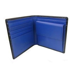 二つ折り財布 メンズ 短財布 青 Gordes ゴルド NT-102|lvx200807