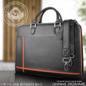 ビジネスバッグ ショルダーバッグ クロスライン United HOMME UH-2079 オレンジ|lvx200807