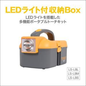 (ポイント5倍中) LEDライト 懐中電灯 付き 収納 ボックス ケース 緊急用 防災用 災害時用 停電時用 工具箱 ポータブルトーチキット LS-LBM(Mサイズ) lysin