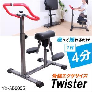 (6/20迄ポイント5倍) エクササイズ 骨盤 回し 腰 クネクネ 運動 くびれ ウエスト トレーニング ロデオ マシン 電源不要 ツイスター LS-YX-AB8055 簡単組立|lysin