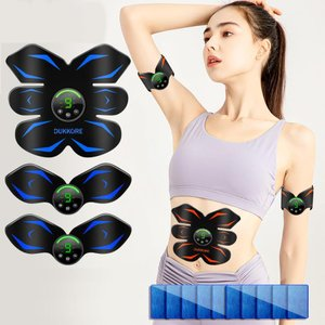【夏のPayPay祭 全店12%オフ】 腹筋ベルト ems USB充電式 筋肉トレーニング 腹ダイエット 6種類モード 9段階強度 男女兼用 液晶表示 脇腹 腕腹筋器具 (K03)