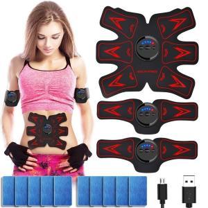 EMS 腹筋ベルト  USB充電式 筋肉 腹筋 筋肉トナー ダイエット器具 ダイエット  お腹 腕部...
