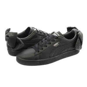 COLOR: Puma Black-Puma Aged Silver PUMA BASKET BOW...
