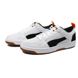 COLOR: White-Black-Jaffa Orange-Gum PUMA REBOUND L...