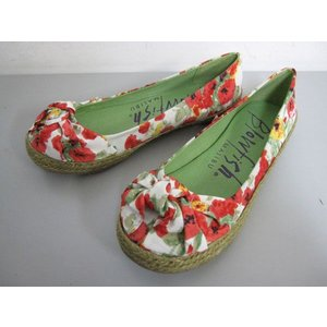 BLOWFISH SAMIRA White moment floral fabric ブローフィッシュ ウェッジ パンプス|m-bros