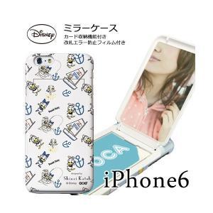 iPhone 6s iPhone6 (4.7インチ)専用 シンジカトウ shinzikatoh Disney ディズニー ミラーケース ドナルド WHITE|m-channel
