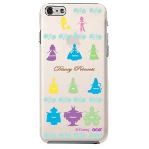 iPhone6 クリアソフトケース Disney プリンセス シルエット|m-channel