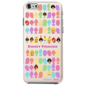 iPhone6 クリアソフトケース Disney ミニプリンセス|m-channel