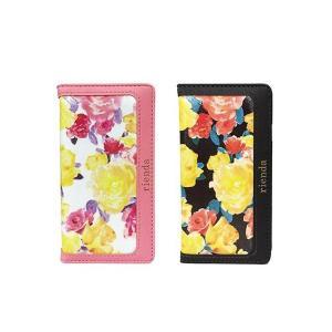 iPhone6 iPhone6S 専用 【rienda/リエンダ】 「ぺプラムプリーツキャミ (花柄)」手帳型 レザーケース (2カラー)|m-channel
