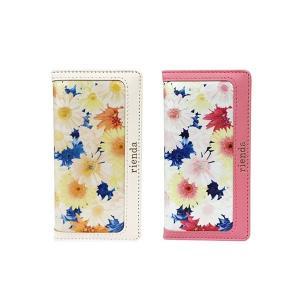 iPhone6 iPhone6S 専用 【rienda/リエンダ】 「フラワーフレア (花柄)」手帳型 レザーケース|m-channel