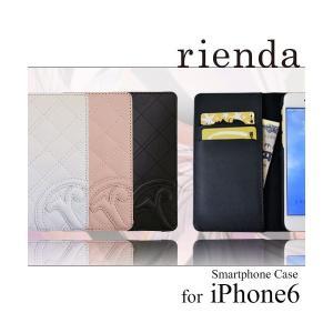 iPhone6 iPhone6S 専用 【rienda/リエンダ】 「キルティング」 手帳型 レザーケース (3カラー)|m-channel