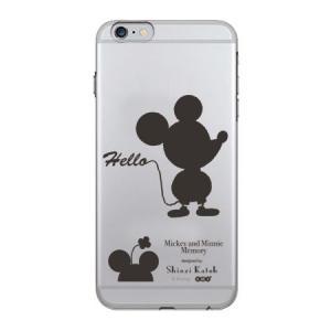 iPhone6s Plus iPhone6 Plus 専用ケース(5.5インチ) TPU クリアケース Disney ディズニー ミッキー&ミニー シルエット(透明) m-channel