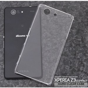 Xperia Z3 Compact SO-02G用ハードクリアケース m-channel