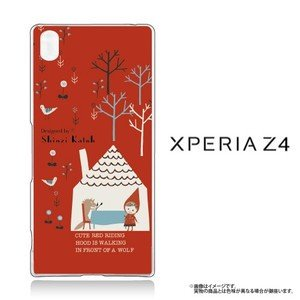 Xperia Z4(SO-03G/SOV31/402SO)専用クリアケース 赤ずきんRED|m-channel