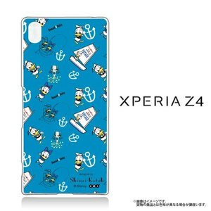 Xperia Z4(SO-03G/SOV31/402SO)専用 クリアケース Disney ドナルド (青)|m-channel