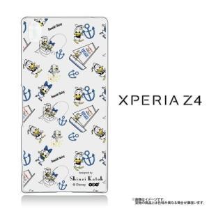Xperia Z4(SO-03G/SOV31/402SO)専用 クリアケース Disney ドナルド (白)|m-channel