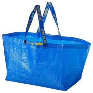 IKEA/イケア FRAKTA キャリーバッグ L ブルー ショッピングバッグ メール便送料無料 ポイント消化