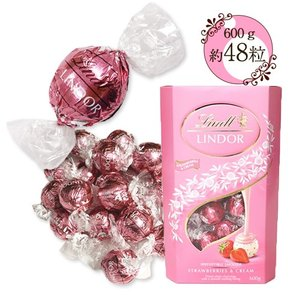リンツ リンドール チョコレート ストロベリー&クリーム 600g 【約48個】 ポイント消化 送料...