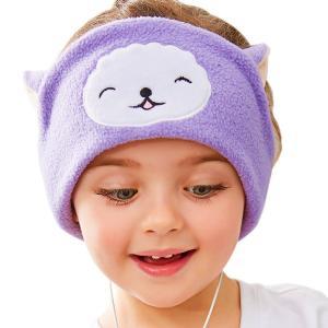 子供用ヘッドフォン イヤホン 軽量 柔らか 睡眠アイマスク 旅行 調節可能 可愛い  このヘッドフォ...