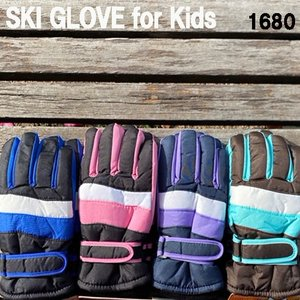 キッズスキーグローブ/ジュニアスキーグローブ/子供用スキー手袋//キッズ防寒手袋/メール便で送料無料...