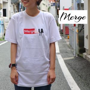 Merge マージ Tee Tシャツ カットソー トップス 半袖Tee StickerLA|m-i-e