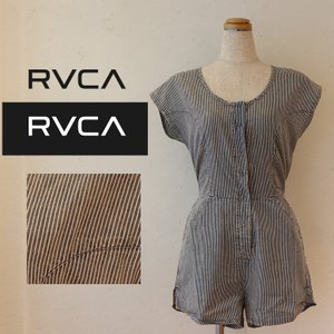 RVCA  ルーカ サロペット RAILWAY STRIPED ROMPER AI043-395|m-i-e