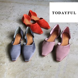 TODAYFUL  LIFE's ライフズ トゥデイフル  Satin Flat Shoes 【FLAT PRICE】|m-i-e