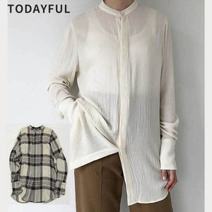 TODAYFUL LIFE's Softwool Long Shirts 11920404 チェックシャツ ロングシャツ |m-i-e
