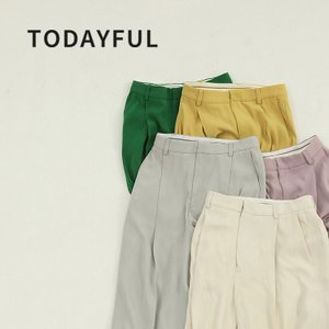 TODAYFUL LIFE'S Georgette Rough Trousers  12010708 パンツ ボトム カラーパンツ|m-i-e