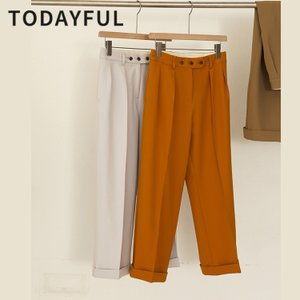 TODAYFUL  LIFE'S Twill Tuck Trousers 12010723|m-i-e
