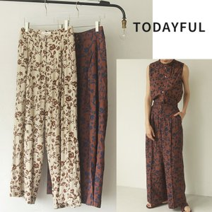TODAYFUL LIFE's Flower Shantung Trousers 12010727 パンツ|m-i-e