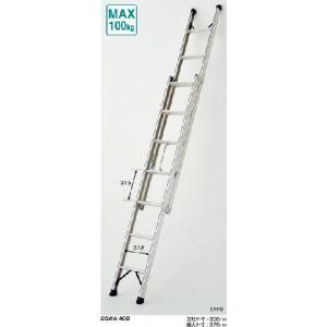ピカコーポレーション プッシュアップ式2連はしご 2SWA-34B|m-kenki