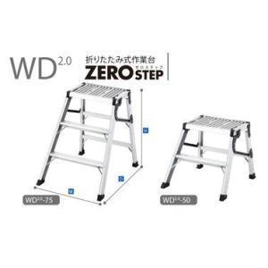 長谷川 折たたみ式作業台 ZERO STEP WD2.0-75|m-kenki