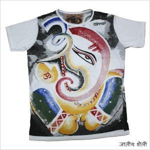 エスニック Tシャツ ガネーシャ A WHT / 白 bk0...