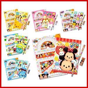 特価! ディズニーツムツム キラキラ文具4点セット 6種類セット (1セットあたり89円)|m-onlineshop