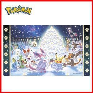 海外ポケモンセンター限定 ポケモンカードゲーム プレイマット ポケモン達のクリスマス Pokemon...