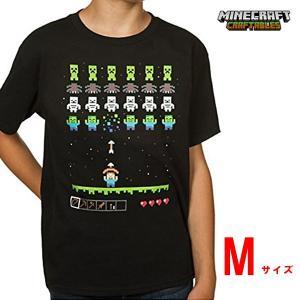 特価! マインクラフト キッズTシャツ インベーダー/ブラック Mサイズ (正規品)|m-onlineshop
