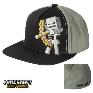 マインクラフト キッズストレッチフィットキャップ 子供用帽子 スケルトン (正規品)|m-onlineshop