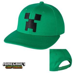 マインクラフト キッズスナップバックキャップ 子供用帽子 クリーパーフェイス (正規品)|m-onlineshop