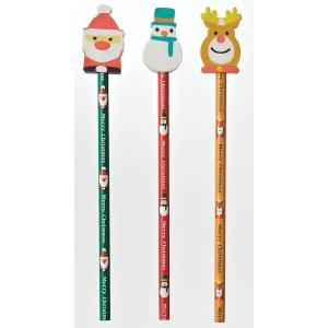 クリスマス 消しゴム付 鉛筆 1本 35円 240本以上 端数可