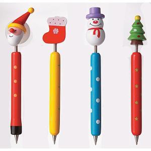 クリスマス 消しゴム付 鉛筆 3本セット 1個 98円 80個以上 端数可