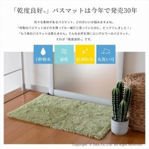 バスマット 吸水 速乾 乾度良好(かんどりょうこう) バスマット Dナチュレ 約70cm×70cm (お風呂マット/大判/正方形) オカ|m-rug|04