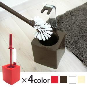 やわらかい植毛ブラシでしっかり洗えるコンパクトなトイレブラシです。使用後は長めの持ち手が便利なケース...