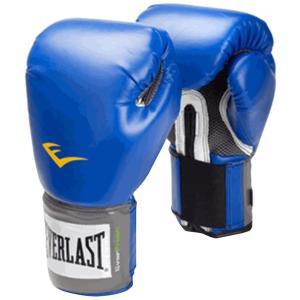 EVERLAST ボクシンググローブ マジックテープ式 (ブルー、16oz)   ・素材:合皮 マジ...