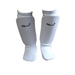 M-WORLD レッグサポーター newタイプ ホワイト //空手 足サポーター 脛サポーター スネサポーター 練習 送料無料