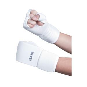 ISAMI L-3058 拳サポーター 白色 // イサミ 空手 防具 サポーター キッズ 手 拳 フルコンタクト 大会推奨